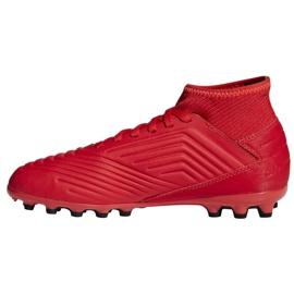 Botas de fútbol adidas Predator 19.3 Jr D98005 rojo rojo 1