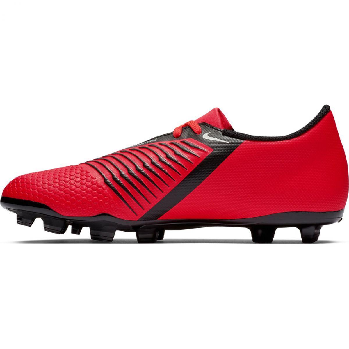 Zapatillas Nike Phantom Vsn Elite Df Fg Hombre Rojo Plata Blanco