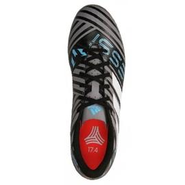 Botas de fútbol adidas Nemeziz Messi Tango Tf M CP9071 negro, azul, gris / plateado negro 2