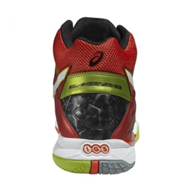 Zapatillas de voleibol Asics Gel-Cyber Sensei 6 Mt M B503Y-2101 rojo multicolor 2