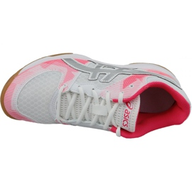 Zapatillas de voleibol Asics Gel-Tactic Gs Jr 1074A014-101 gris blanco 2