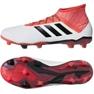 Botas de fútbol adidas Predator 18.2 Fg M CM7666 blanco blanco rojo 2