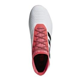 Botas de fútbol adidas Predator 18.2 Fg M CM7666 blanco blanco rojo 3