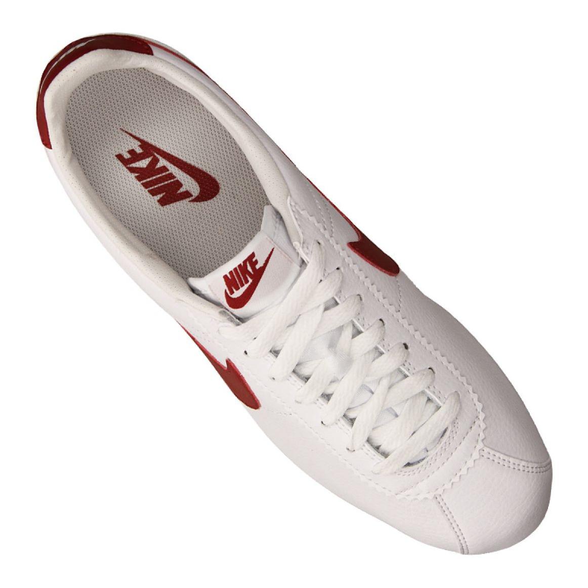 Zapatillas Nike Hombre | CLASSIC CORTEZ LEATHER 154 Blanco ~ Steelpav
