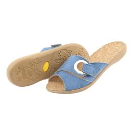 Zapatos de mujer befado pu 265D015 azul 5