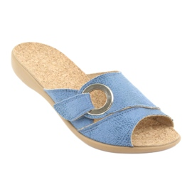 Zapatos de mujer befado pu 265D015 azul 2