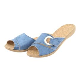 Zapatos de mujer befado pu 265D015 azul 4