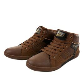 Zapatillas marrones con cordones para hombre 15M749 2