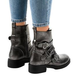 Botas grises de mujer con hebillas HQ1588 3