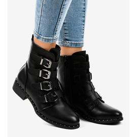 Botas negras de mujer con hebillas S120 negro 1