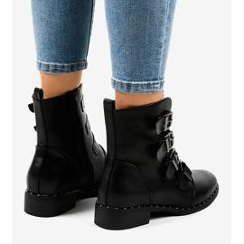 Botas negras de mujer con hebillas S120 negro 2