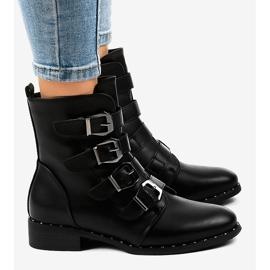 Botas negras de mujer con hebillas S120 negro 3