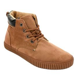 Zapatillas de hombre con aislamiento marrón AN06 1