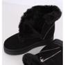 Negro Botas de nieve en piel PP-30 Negro 2