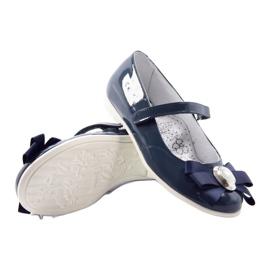 Zapatillas bailarinas para niños Bartek 45418 azul marino. multicolor blanco 3