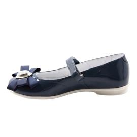 Zapatillas bailarinas para niños Bartek 45418 azul marino. multicolor blanco 2