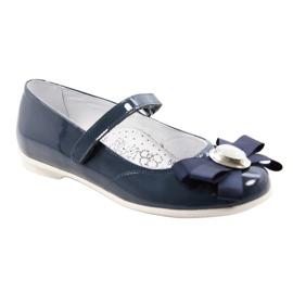 Zapatillas bailarinas para niños Bartek 45418 azul marino. multicolor blanco 1