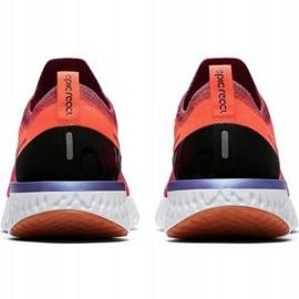 Zapatillas de running Nike Epic React Flyknit W AQ0070 601 rojo 2