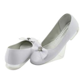 Zapato de salón comunión bailarinas blanco Miko 800 4