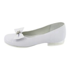 Zapato de salón comunión bailarinas blanco Miko 800 2