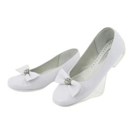 Zapato de salón comunión bailarinas blanco Miko 800 3