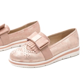 Zapatos rosa mate en la cuña YT-8 1