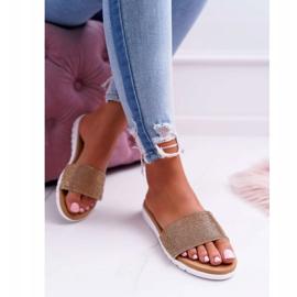 Zapatillas de oro Lu Boo para mujer con lentejuelas Goodies 1