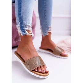 Zapatillas de oro Lu Boo para mujer con lentejuelas Goodies 2