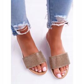 Zapatillas de oro Lu Boo para mujer con lentejuelas Goodies 3