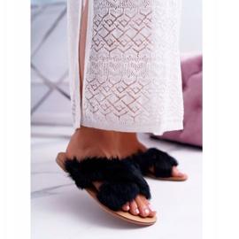 Pantuflas De Mujer Con Piel Lu Boo Black Pimmer negro 1
