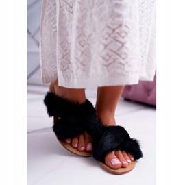 Pantuflas De Mujer Con Piel Lu Boo Black Pimmer negro 2