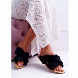 Pantuflas De Mujer Con Piel Lu Boo Black Pimmer negro 4