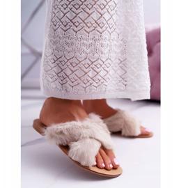 Pantuflas De Mujer Con Piel Lu Boo Pimmer Blanco 1