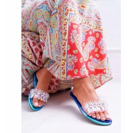 Zapatillas de mujer con circonita cúbica Lu Boo Gas Blue Median azul 1