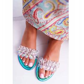 Zapatillas de mujer con circonita cúbica Lu Boo Gas Blue Median azul 4