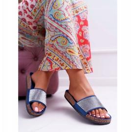 SEA Zapatillas de mujer en corcho con cristales azul marino ¡Hazlo! marina 4