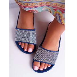 SEA Zapatillas de mujer en corcho con cristales azul marino ¡Hazlo! marina 3