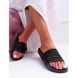 Zapatillas de mujer con cuentas Elavi negras negro 5