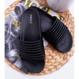 Zapatillas de mujer con cuentas Elavi negras negro 1