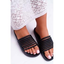 Zapatillas de mujer con cuentas Elavi negras negro 6