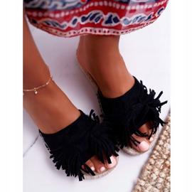 Pantuflas negras para mujer Boho Vices 8458 negro 3
