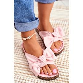 BUGO Zapatillas de mujer en corcho corcho en polvo rosa Wendy 3
