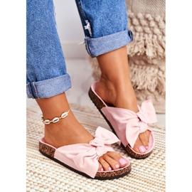 BUGO Zapatillas de mujer en corcho corcho en polvo rosa Wendy 1