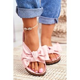 BUGO Zapatillas de mujer en corcho corcho en polvo rosa Wendy 2