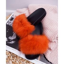 Pantuflas de mujer con pelaje natural Naranja Naturis 2