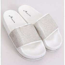 Zapatillas blancas en suela gruesa N-59 Blanco gris 1