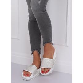 Zapatillas blancas en suela gruesa N-59 Blanco gris 2