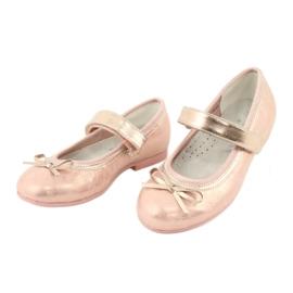 Golden Rose Ballerinas con American Club Bow GC02 / 20 rosa amarillo 3