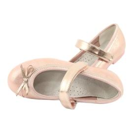 Golden Rose Ballerinas con American Club Bow GC02 / 20 rosa amarillo 5