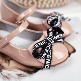 S.Barski Bar Beige Bailarinas Infantiles Mindi Velcro 4